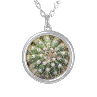 Collar Plateado Top del cactus