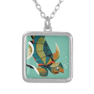Collar Plateado Tortuga de mar australiana alegre