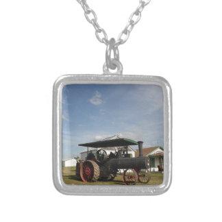 Collar Plateado tractor del vapor 1800's