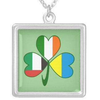 Collar Plateado Trébol de los UAE Ucrania Irlanda