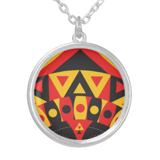 Collar Plateado tribal aborigen