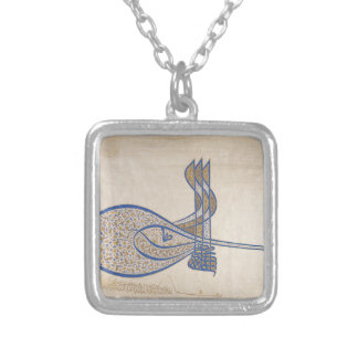 Collar Plateado Tughra (firma oficial) del sultán Süleiman