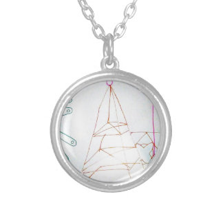 Collar Plateado Un juego de la cuenta de cristal de los geómetras