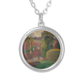 Collar Plateado Una granja en Bretaña - Paul Gauguin