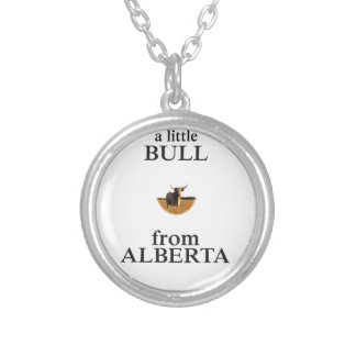Collar Plateado Una pequeña Bull de Alberta