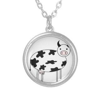 Collar Plateado Vaca linda