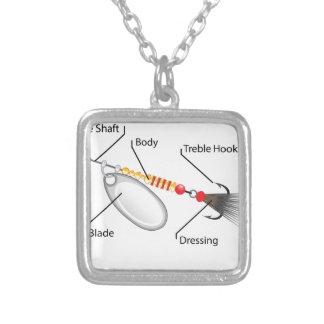 Collar Plateado Vector de la cuchilla de la plata del señuelo de