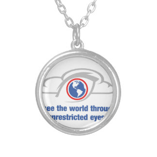 Collar Plateado Veo el mundo a través de ojos sin restricción