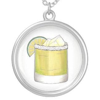 Collar Plateado Verde lima de la bebida mezclada del cóctel del