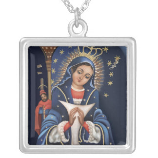 Collar Plateado Virgen de la Altagarcia Necklace