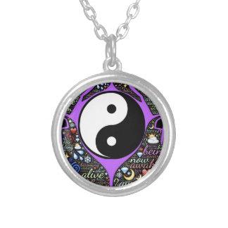 Collar Plateado Yin, Yang