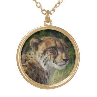 Collar redondo del encanto del guepardo en final