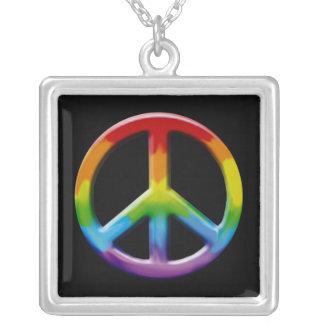 Collar retro del signo de la paz
