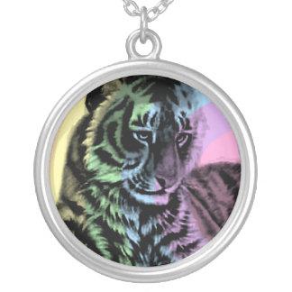 Collar retro del tigre del arco iris del tigre 80s