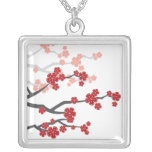 collar rojo de las flores de cerezo de Sakuras del