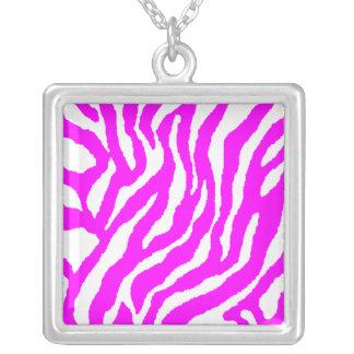Collar rosado retro de la raya del tigre del tigre