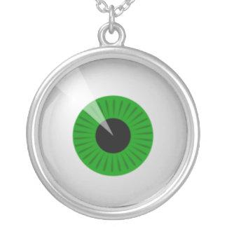 Collar verde del globo del ojo