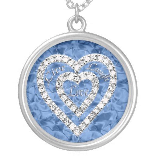 Collar vivo del corazón del diamante del amor de l