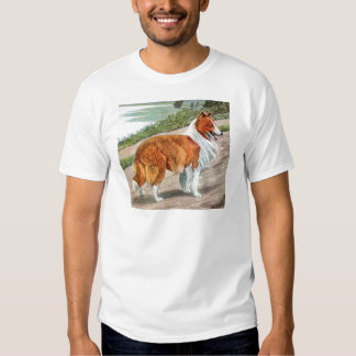 Collie áspero camiseta