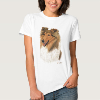 Collie áspero camisetas