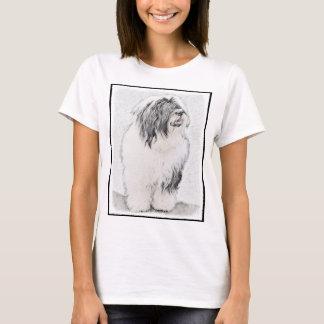 Collie barbudo camiseta