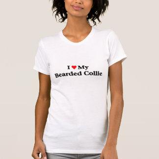 Collie barbudo camisetas