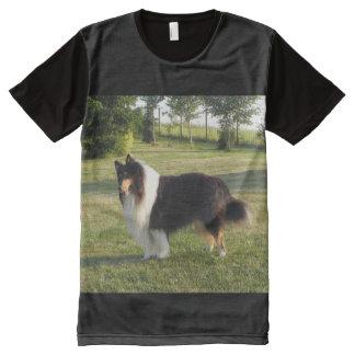 Collie Camisetas Con Estampado Integral