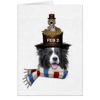 Collie Ditzy de Dogs~Original Notecard~Border Tarjeta