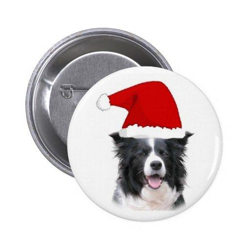 Collie Ditzy Pin~Christmas de Dogs~Border