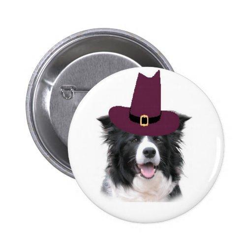 Collie Ditzy Pin~Thanksgiving de Dogs~Border
