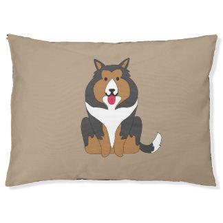 Collie lindo Dogbed Cama Para Mascotas