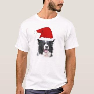 Collie mareado Tee~Christmas de Dogz~Border Camiseta
