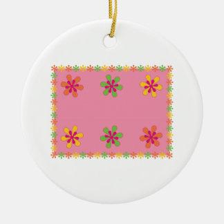 Colocación floral adorno redondo de cerámica