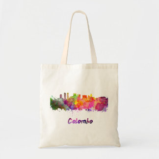Colombo skyline in watercolor bolso de tela