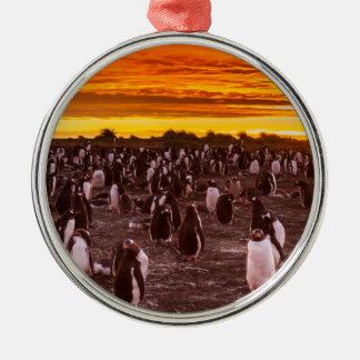 Colonia en la puesta del sol, Malvinas del Adorno Navideño Redondo De Metal