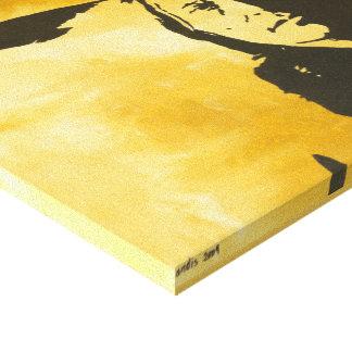 """""""Coloque"""" la pintura alta del hombre del nativo Impresión En Lona Estirada"""