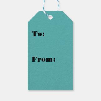 Color abundante rico de las azules turquesas etiquetas para regalos