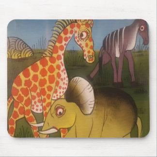 Color africano asombroso hermoso del safari del alfombrilla de ratón