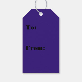 Color azul intuitivo idealista etiquetas para regalos