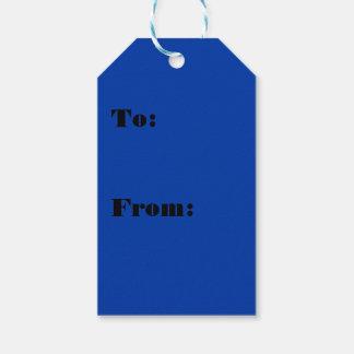 Color azul serio majestuoso etiquetas para regalos