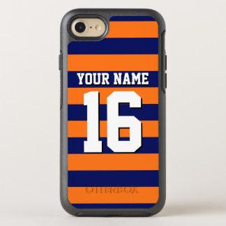 Color BG, raya de muy buen gusto de DIY del jersey Funda OtterBox Symmetry Para iPhone 8/7