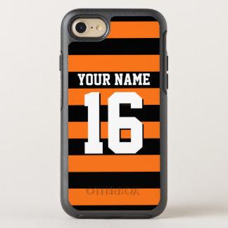 Color BG, raya de muy buen gusto negra de DIY del Funda OtterBox Symmetry Para iPhone 7