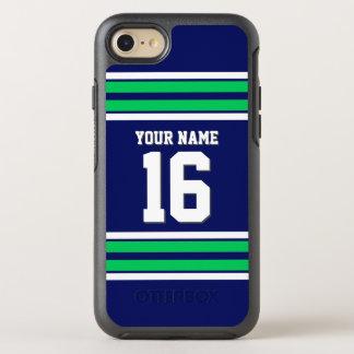 Color BG, raya de muy buen gusto verde de DIY del Funda OtterBox Symmetry Para iPhone 7