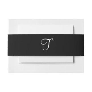 Color blanco del diseñador del boda del negro cintas para invitaciones