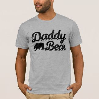 Color claro del oso del papá camiseta