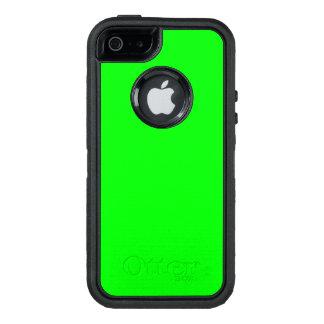 Color de acento verde de neón brillante llamativo funda OtterBox defender para iPhone 5