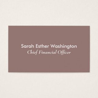 Color de color topo ligero tarjeta de visita