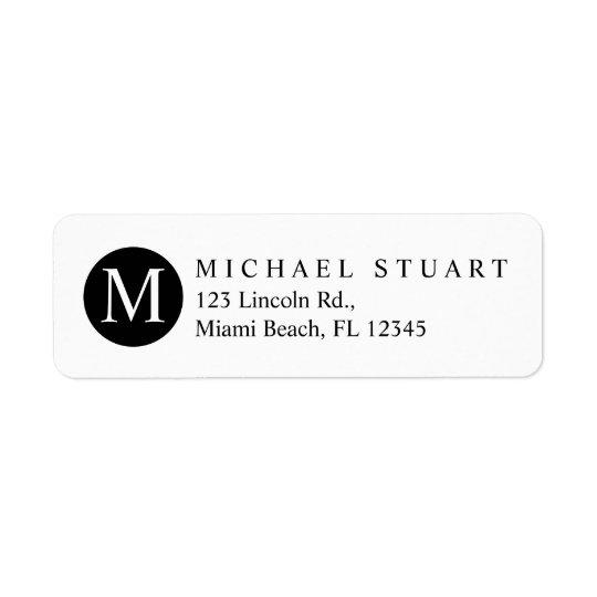 Color de encargo minimalista moderno simple del etiqueta de remitente