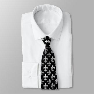 Color de fondo de la flor de lis /DIY de Corbata Personalizada