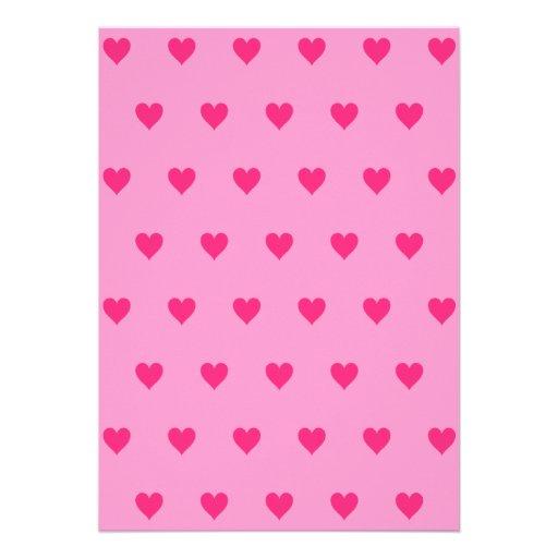 Color de fondo Editable - modelo rosado del corazó Invitacion Personal